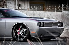 2 CRAVE® - No.14 Gloss Black with Machined Face on Dodge Challenger