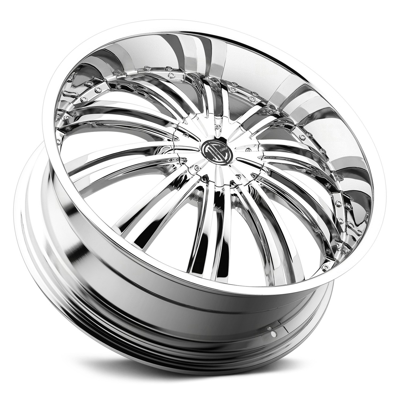 2 CRAVE® NUMBER 1 Wheels - Chrome Rims