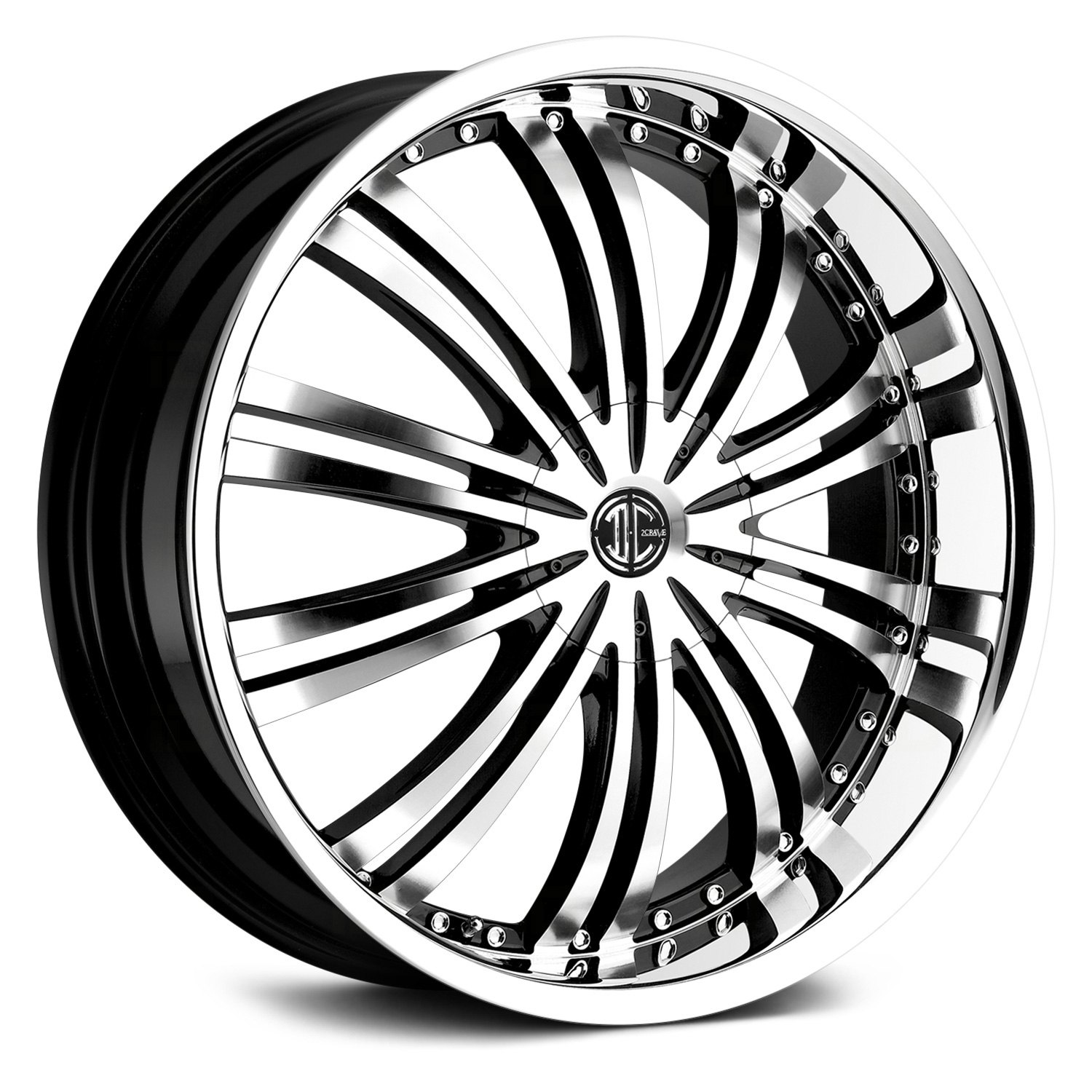 Chrome Rim Repair >> 2 CRAVE® NUMBER 1 Wheels - Gloss Black with Machined Face and Chrome Lip Rims