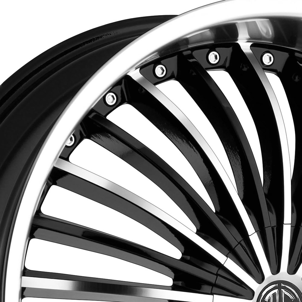 2 CRAVE® NO.13 Wheels - Gloss Black with Machined Face and
