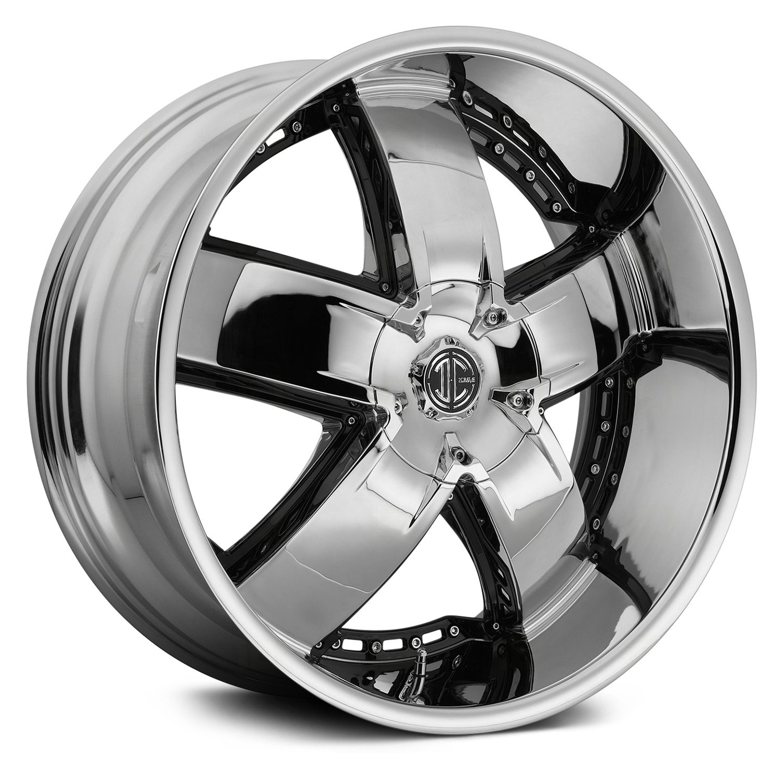 2 CRAVE® NUMBER 18 Wheels - Chrome Rims