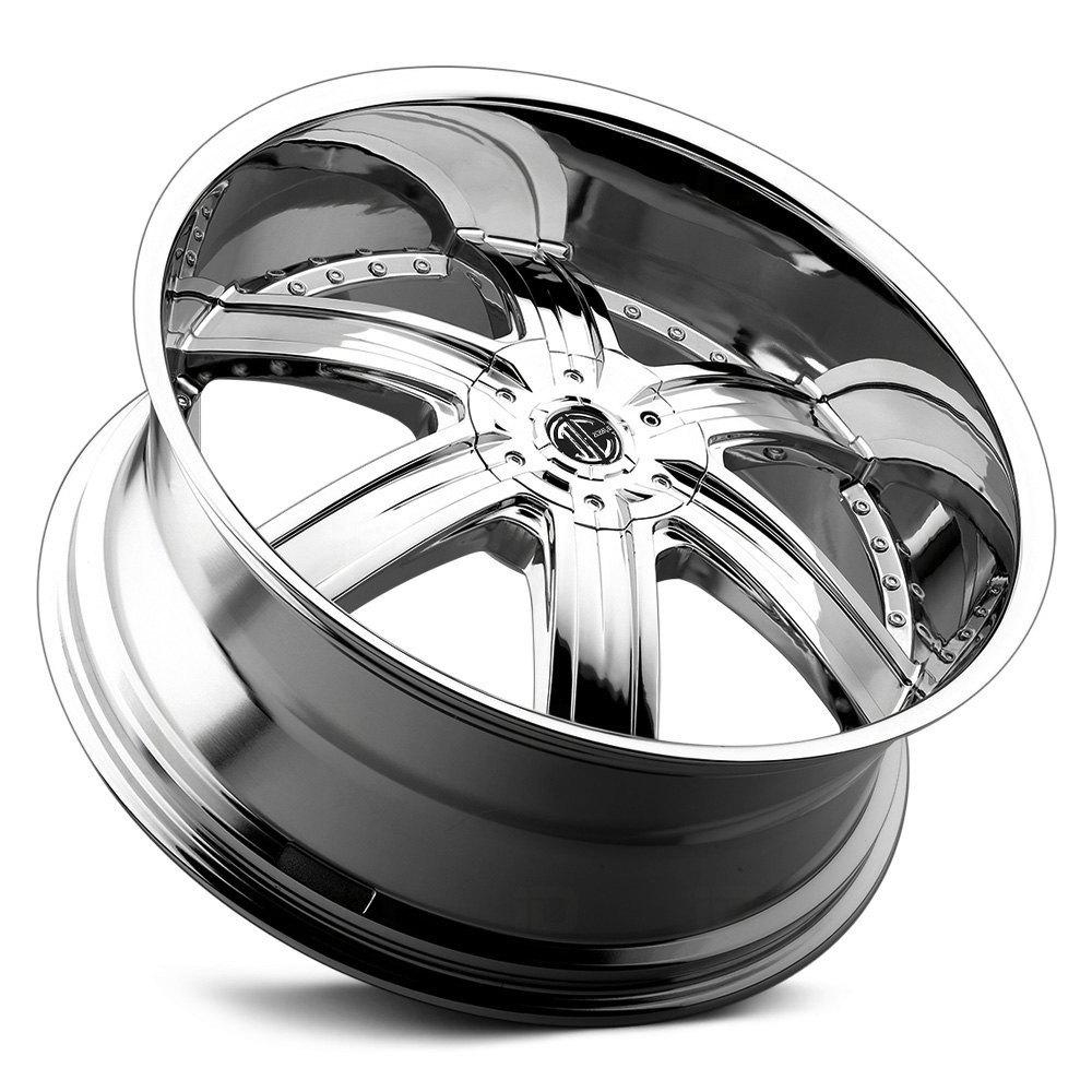 2 CRAVE® NUMBER 4 Wheels - Chrome Rims