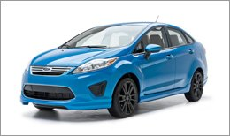 3d Carbon Body Kit on Ford Fiesta 2011