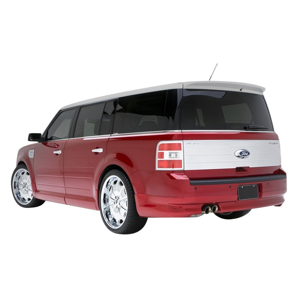 3d carbon ford flex 2009 2013 rear lower skirt with exhaust extensions. Black Bedroom Furniture Sets. Home Design Ideas