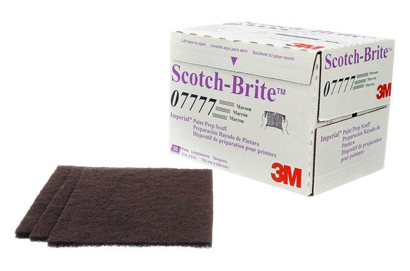 "3M Scotch-Brite Imperial Paint Prep Scuff Pad Maroon 9/"" x 6/"" 7777 new 20-Pk"