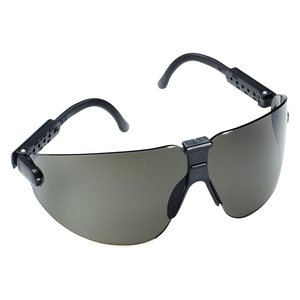 3m 15204 black temple safety glasses with gray lens. Black Bedroom Furniture Sets. Home Design Ideas