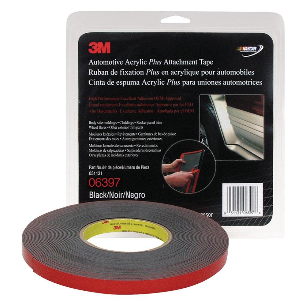 3m 6397 1 2 x 10 yds black automotive acrylic plus attachment tape. Black Bedroom Furniture Sets. Home Design Ideas