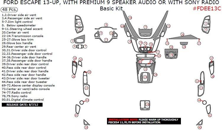 remin fdee13c premium basic kit dash kits ford escape 2013