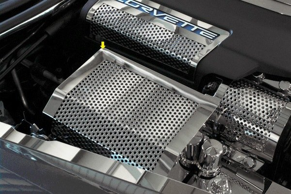 acc chevy corvette 2005 polished fuse box cover without. Black Bedroom Furniture Sets. Home Design Ideas