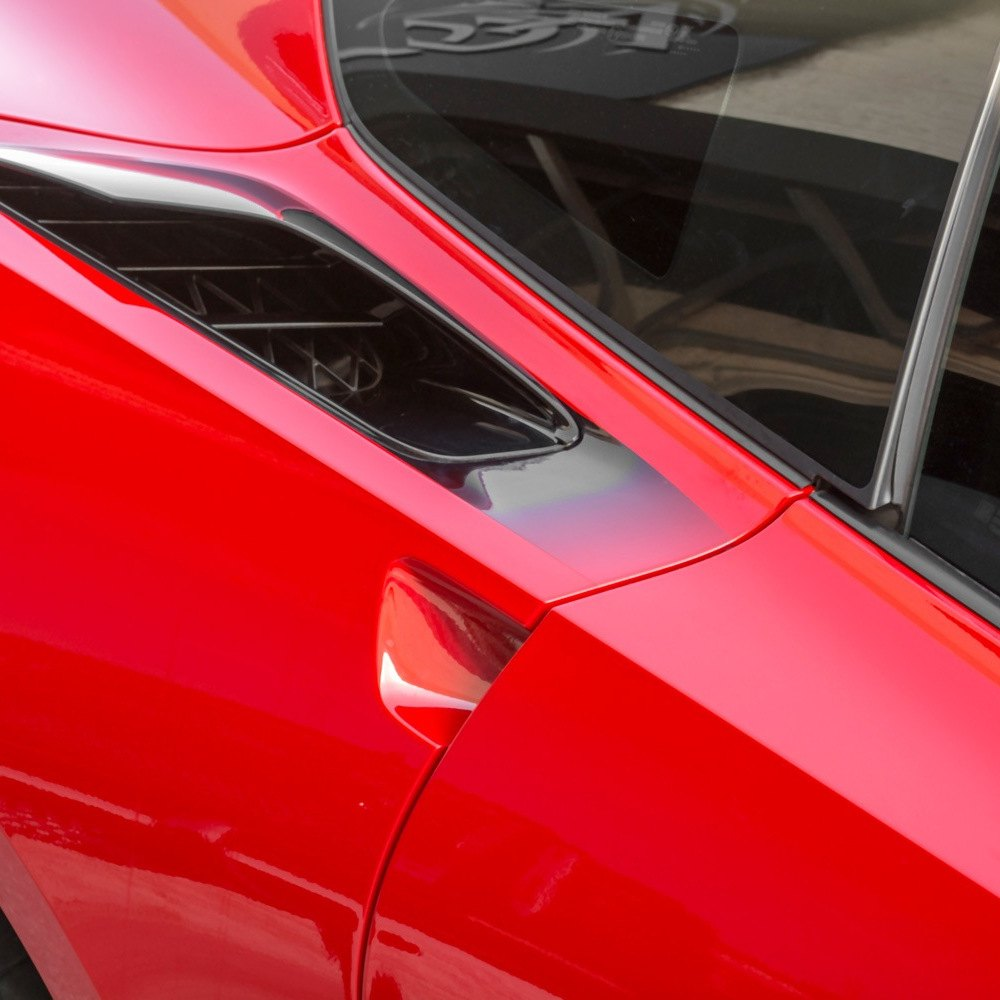 acc chevy corvette 2016 sport fade graphic black side vents. Black Bedroom Furniture Sets. Home Design Ideas