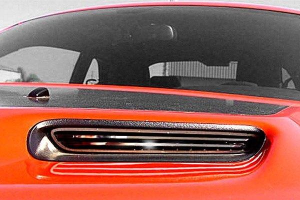 Acc Dodge Challenger 2008 2014 Polished Hood Scoop Insert