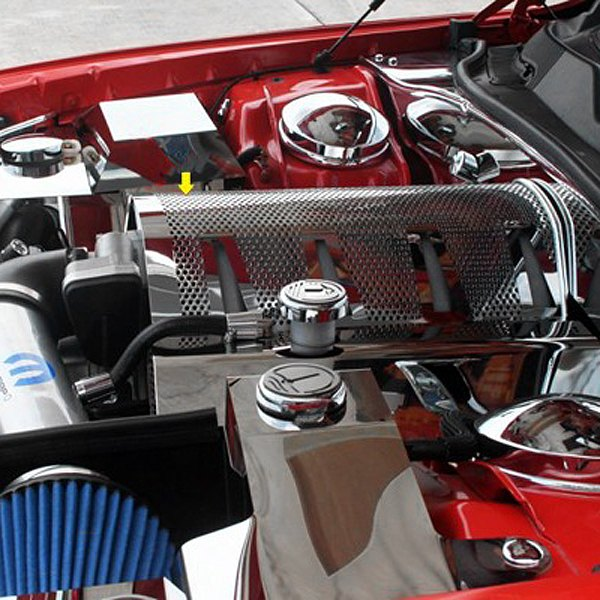 Acc Dodge Challenger 2009 2010 Non Illuminated Polished Plenum Cover