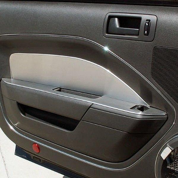 acc ford mustang 2006 brushed door panel trim. Black Bedroom Furniture Sets. Home Design Ideas