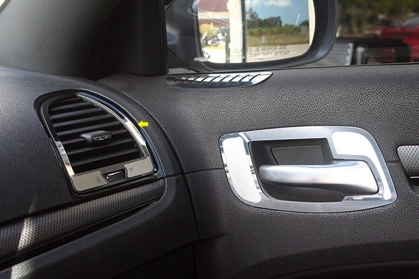 Acc chrysler 300 300c 2011 polished a c vent trim - Chrysler 300 interior accessories ...