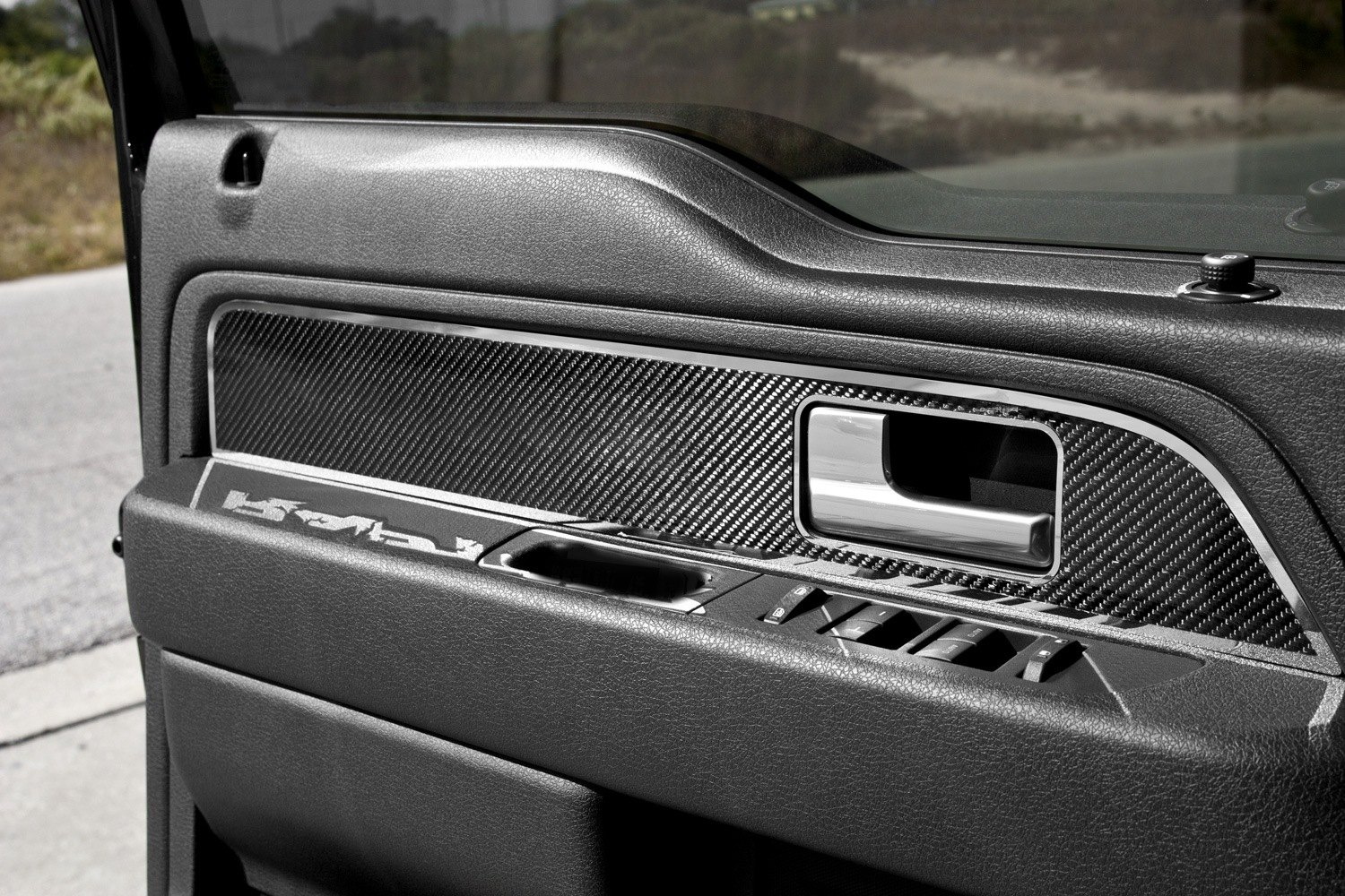 Acc Ford F 150 2010 Carbon Fiber Front Door Panel Inserts