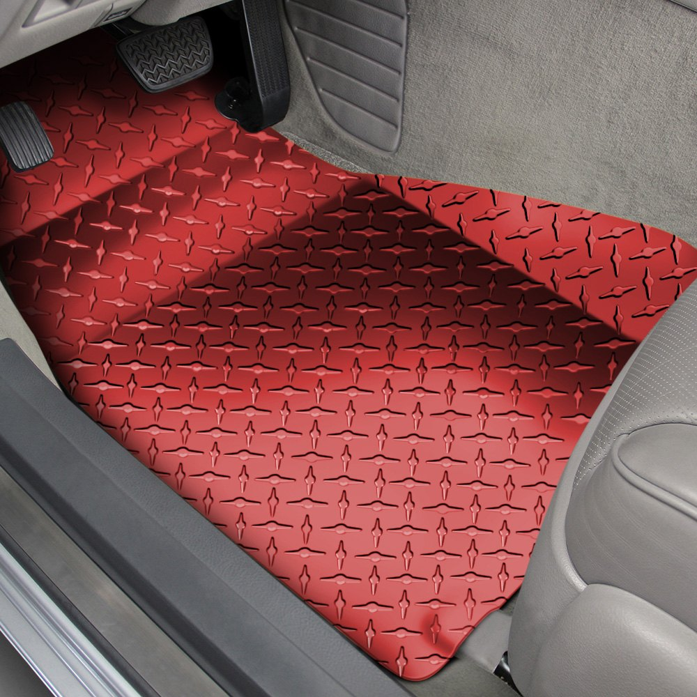 Rubber mats diamond plate - Image May Not Reflect Your Exact Vehicle American Car Craft 1st Row Red