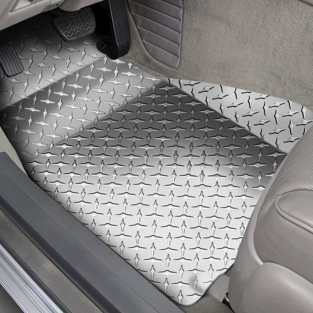 American Car Craft Silver Diamond Plate Floor Mats