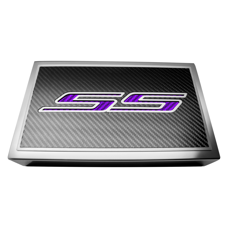 american car craft® 103094 pur carbon fiber fuse box plate american car craft® carbon fiber fuse box plate purple ss logo