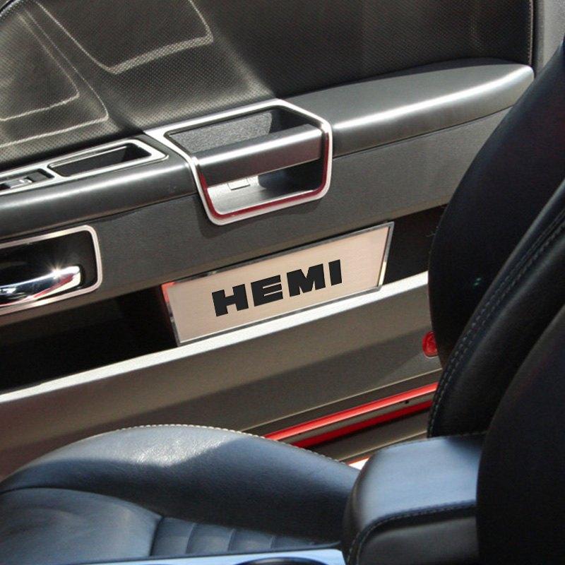 American Car Craft Dodge Challenger 2008 2014 Gm Licensed Brushed Front Door Badges With Hemi