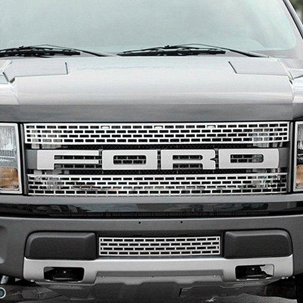 Acc ford f 150 svt raptor 2014 front grille ford lettering for Ford f 150 exterior accessories