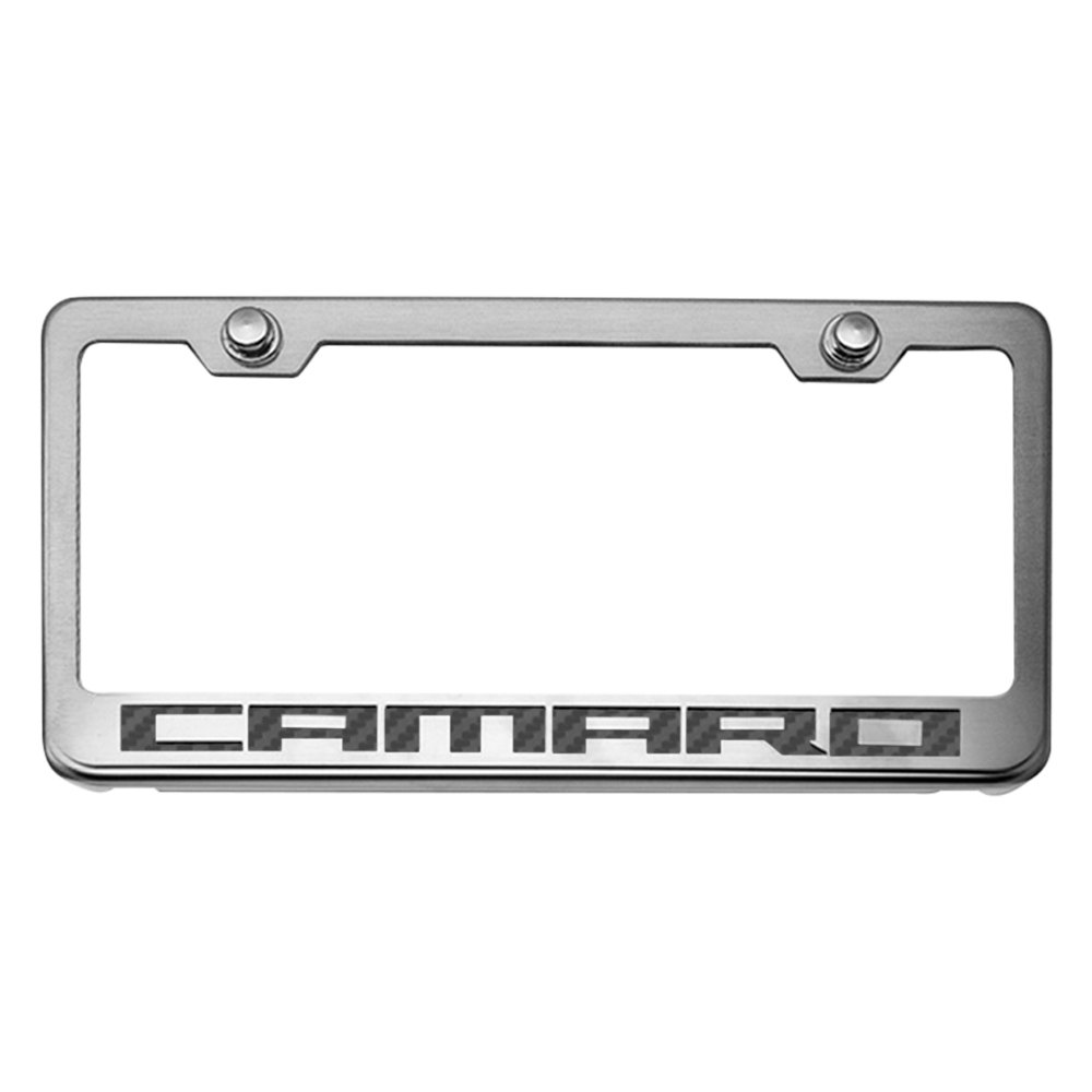 American Car Craft® 102043-BLK - Brushed License Plate Frame with ...