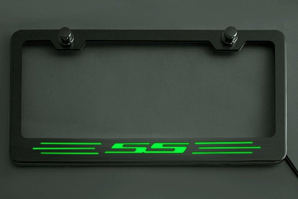 ACC® - Brushed License Plate Frame with Illuminated Logo