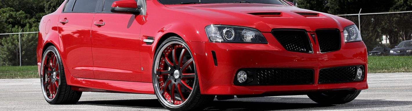 For Pontiac G8 2008-2009 ACC Brushed Rear View Mirror Trim w G8 Logo