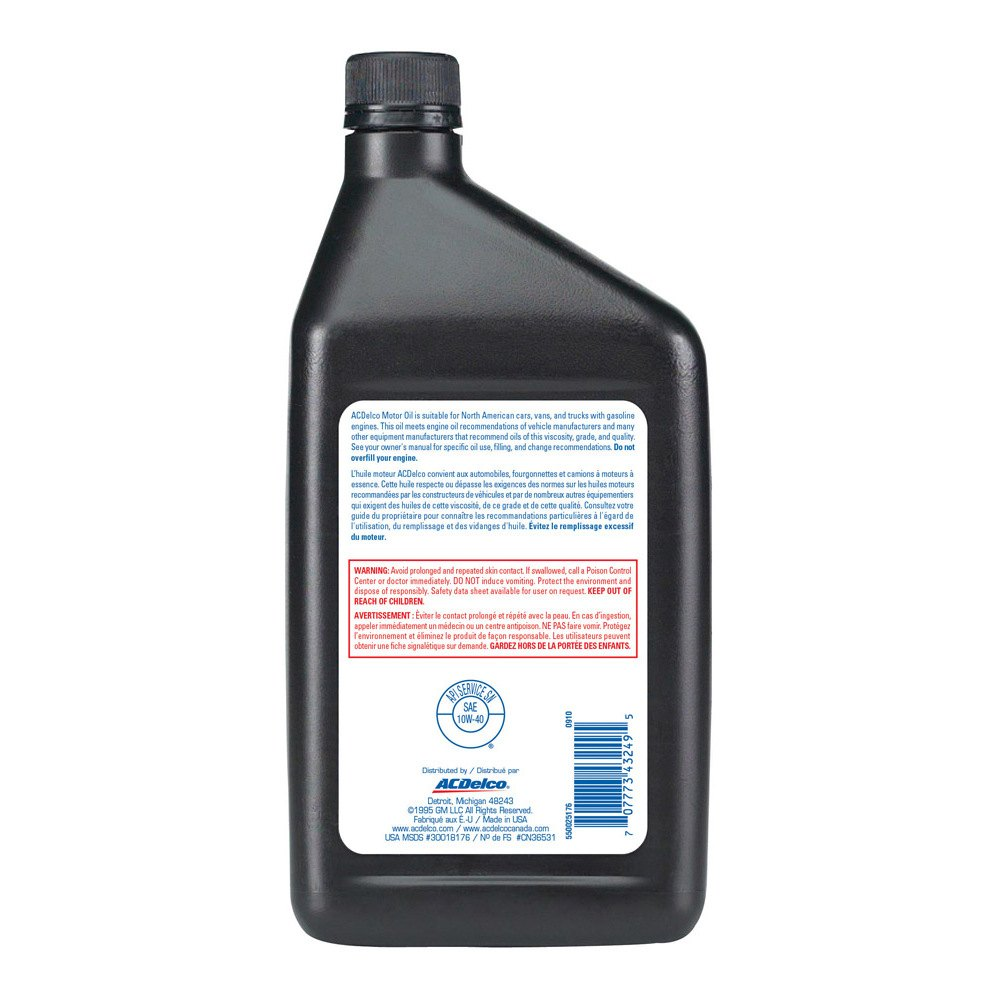 Acdelco 10 9043 Sae 10w 40 Motor Oil