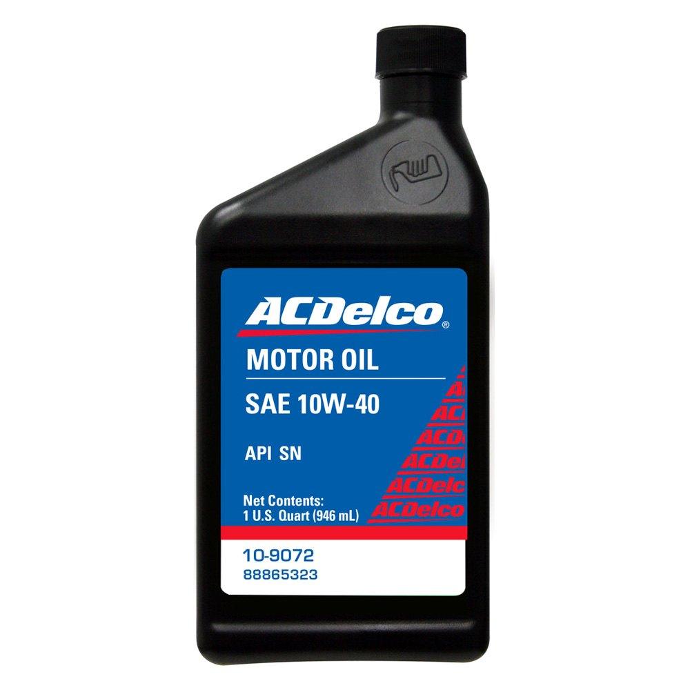 acdelco 10 9072 sae 10w 40 motor oil 1 quart