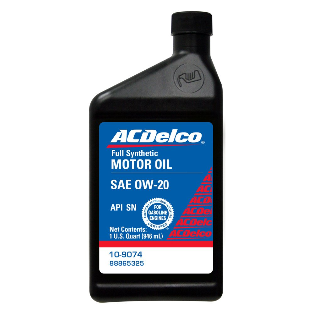 acdelco 10 9074 sae 0w 20 synthetic motor oil 1 quart