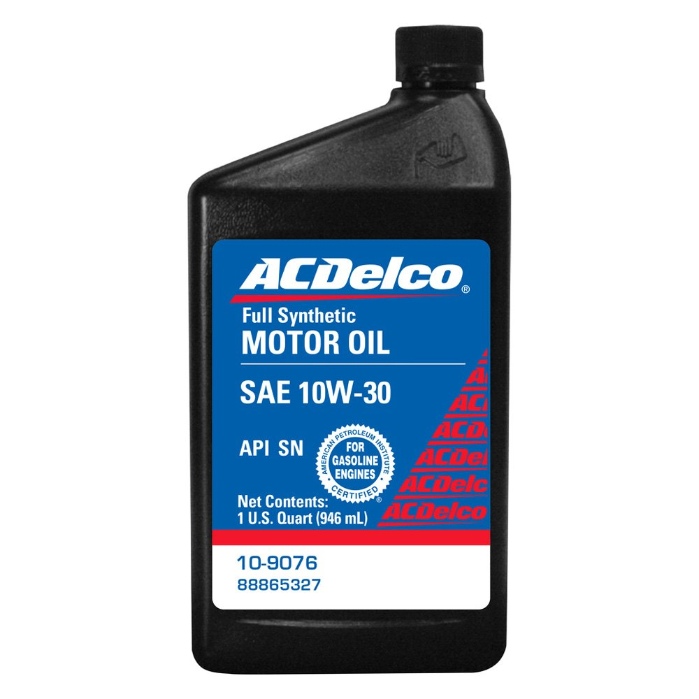 Acdelco 10 9076 Sae 10w 30 Synthetic Motor Oil 1 Quart