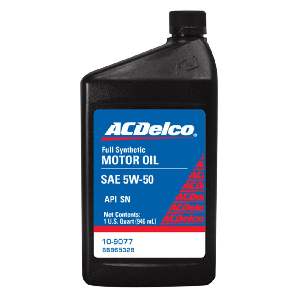 acdelco 10 9077 sae 5w 50 synthetic motor oil 1 quart