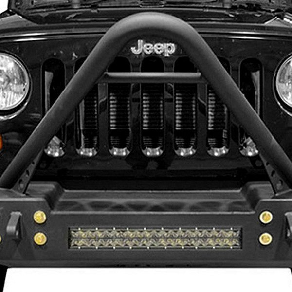 Ace Engineering Jeep Wrangler 2013 Stubby Front Hd Bumper With Stinger