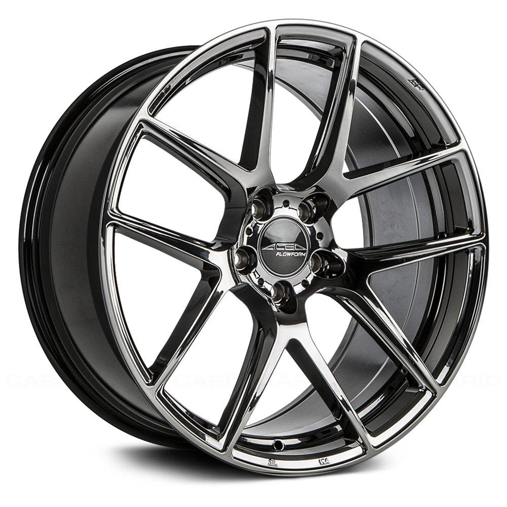 Ace Alloy Aff02 Wheels Black Chrome Rims