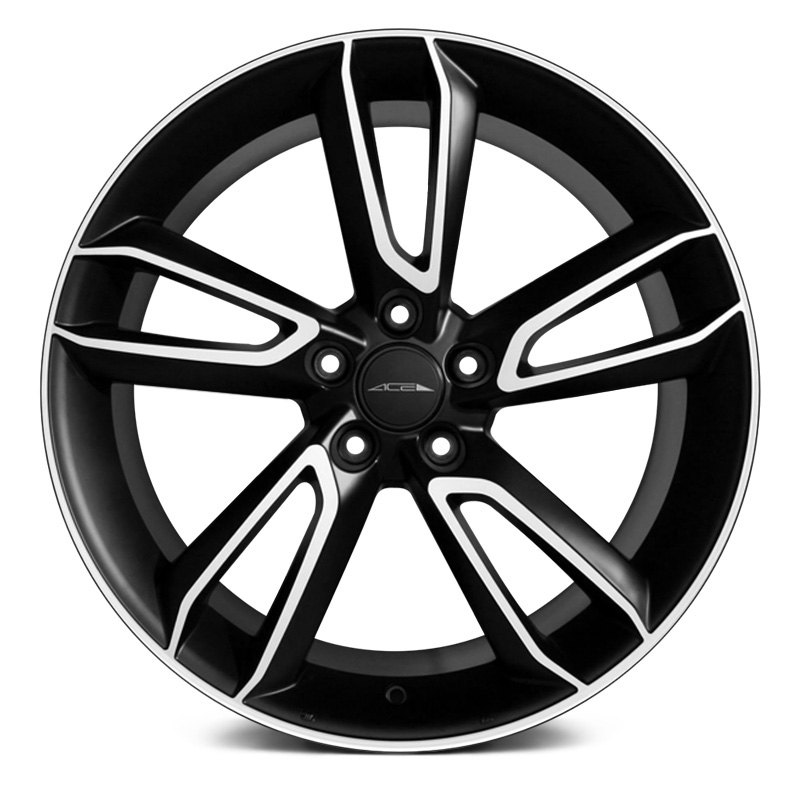 Ace Alloy 174 Scorpio Wheels Matte Black With Machined Face