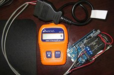 OBD II Pocket Scan in Use