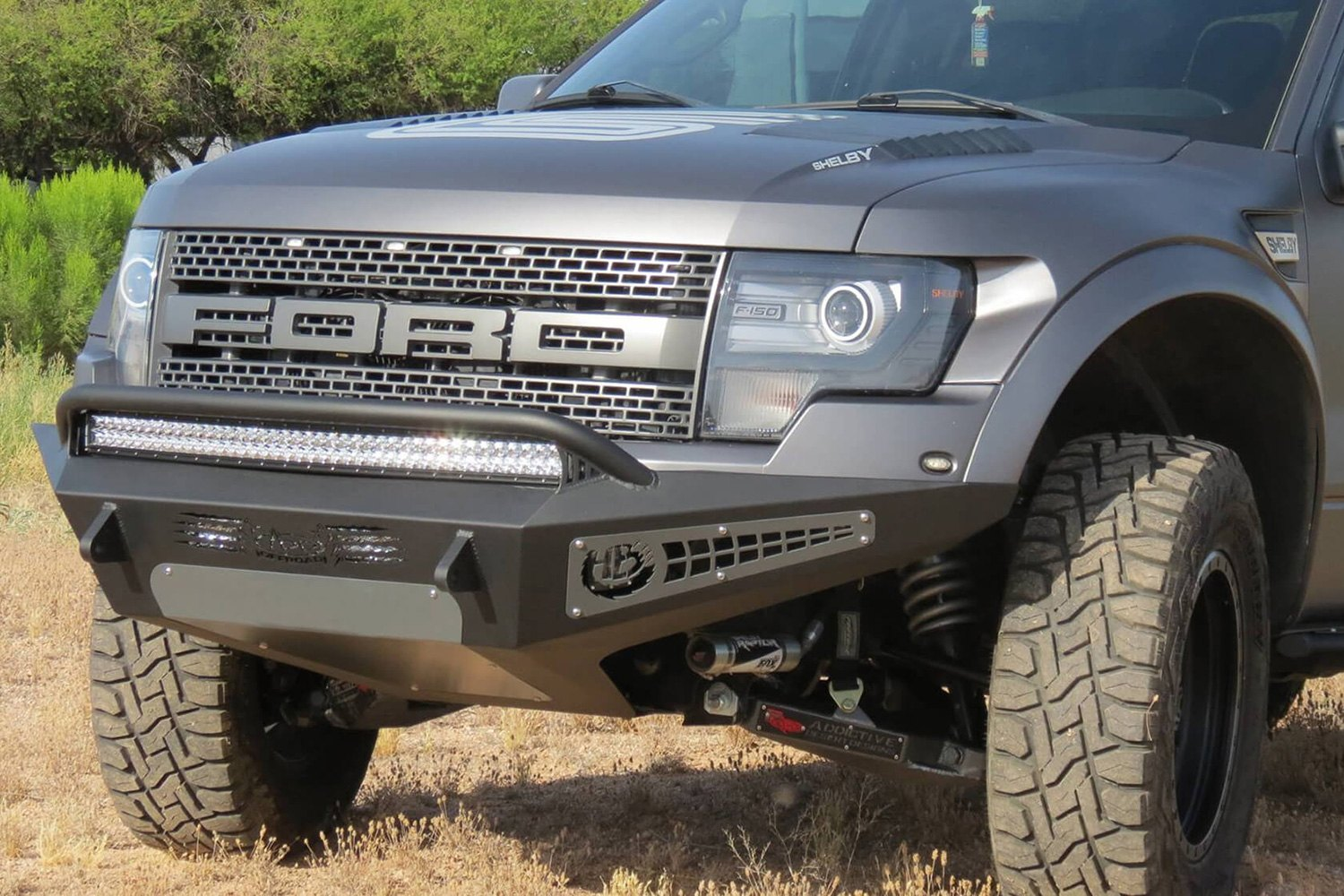 Add Ford F 150 2011 2012 Honeybadger Front Bumper