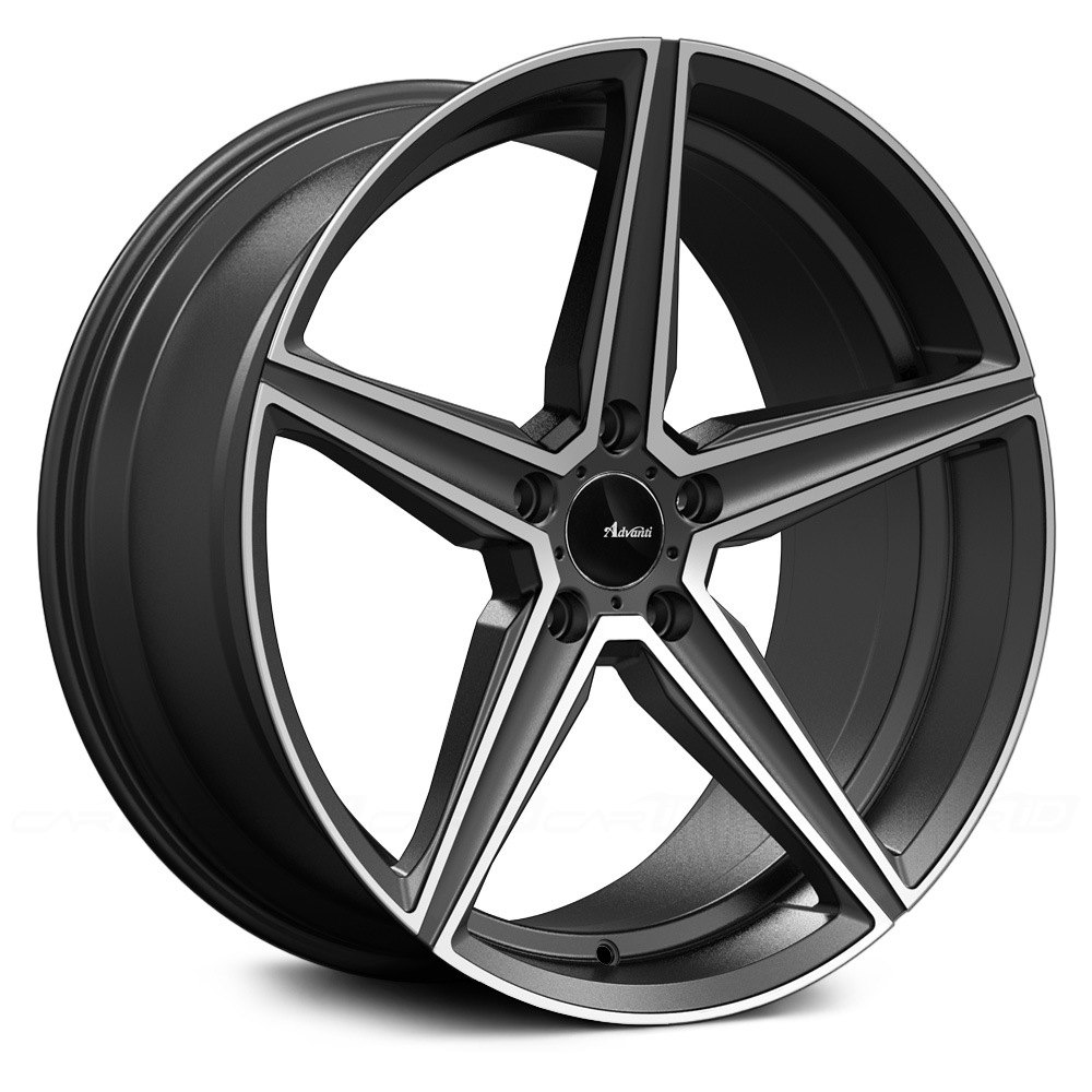 Advanti Racing 174 Cammino Wheels Matte Gray With Machined
