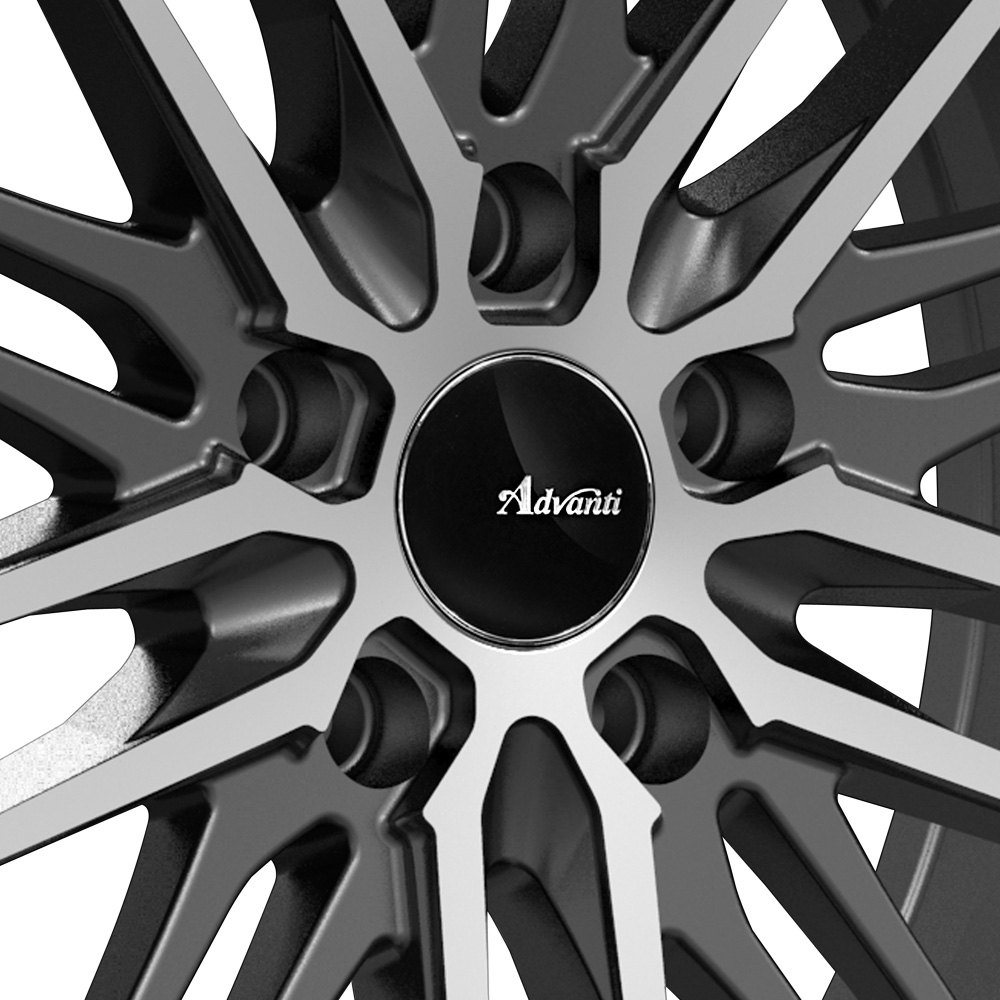 advanti racing diviso wheels matte black with machined. Black Bedroom Furniture Sets. Home Design Ideas