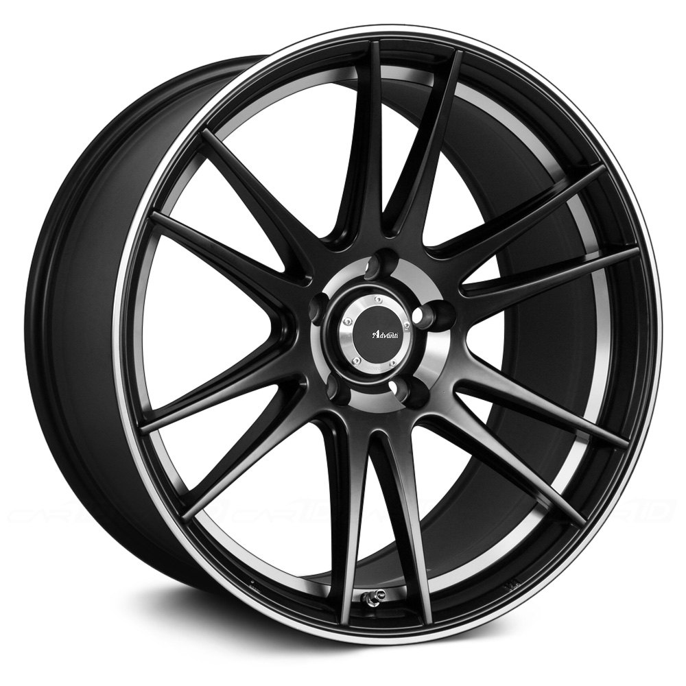 advanti racing optimo wheels matte black with machined. Black Bedroom Furniture Sets. Home Design Ideas