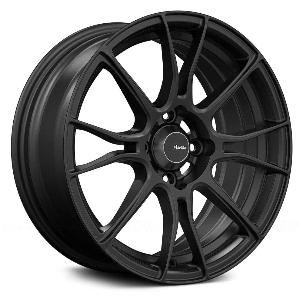Advanti Racing 174 Storm S2 Wheels Matte Black Rims