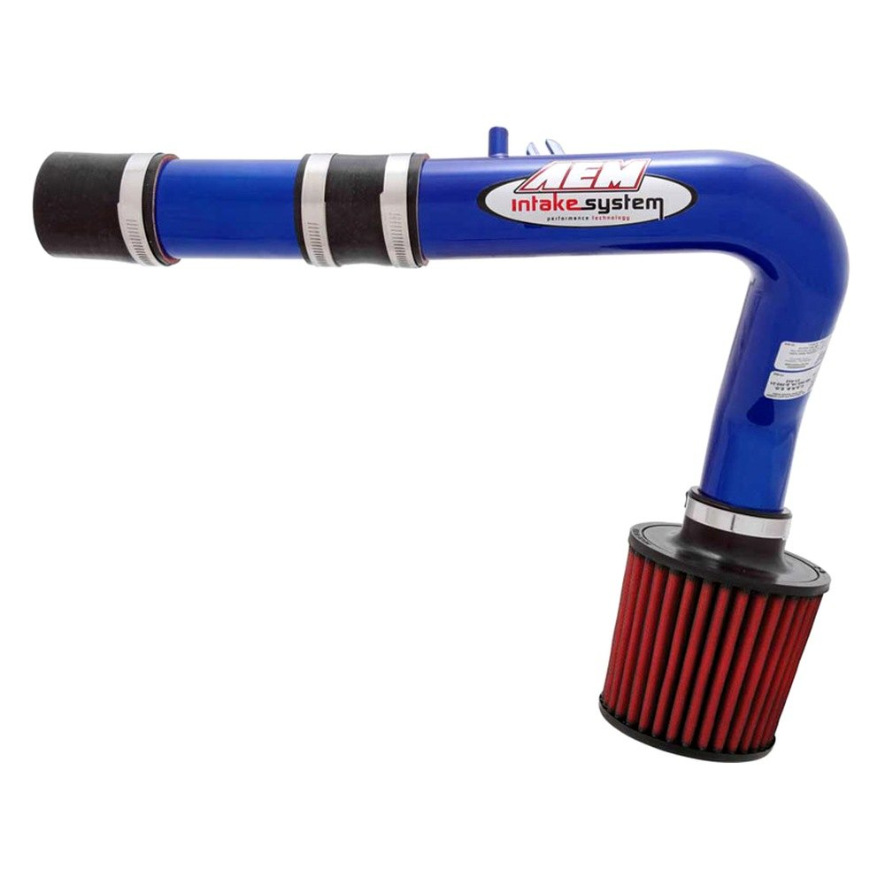 Aluminum Red Cold Air Intake System With: Aluminum Blue Cold Air Intake System With