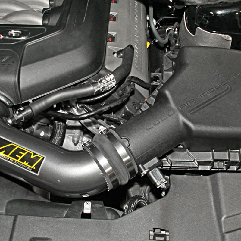 Aem Short Ram Intake: Ford Mustang 2012-2013 Aluminum Gunmetal Gray Short