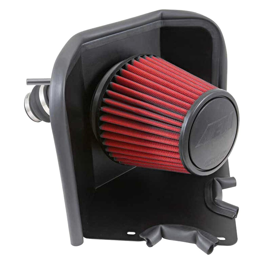 Aluminum Red Cold Air Intake System With: Aluminum Gunmetal Gray Cold Air Intake