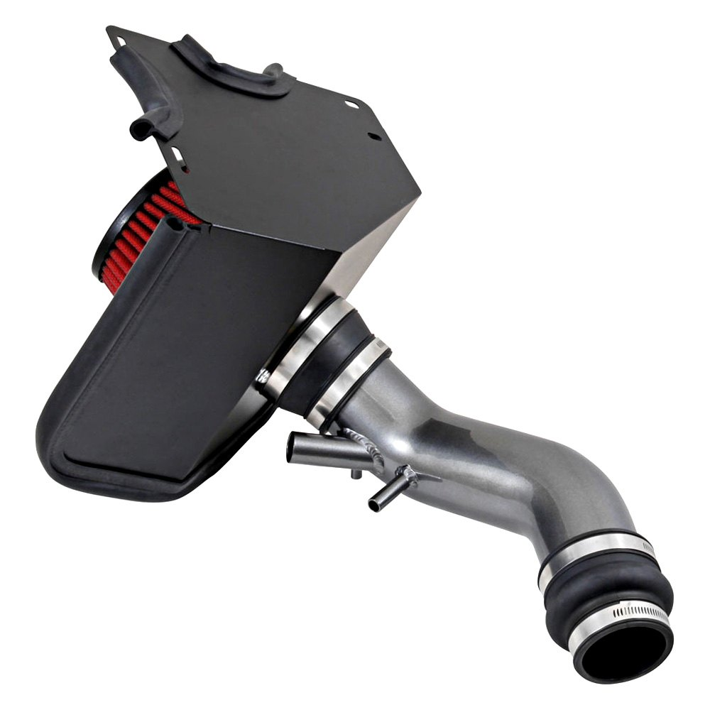 Aluminum Red Cold Air Intake System With: Hyundai Tucson 1.6L Gas 2016 Aluminum Gunmetal Gray