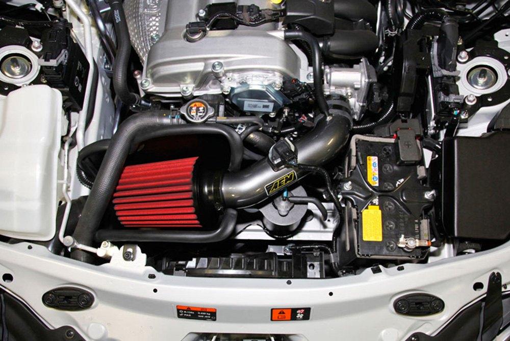 Mazda Miata Parts >> AEM® - Mazda Miata MX-5 2.0L 2016 Aluminum Gunmetal Gray Cold Air Intake System with Red Filter