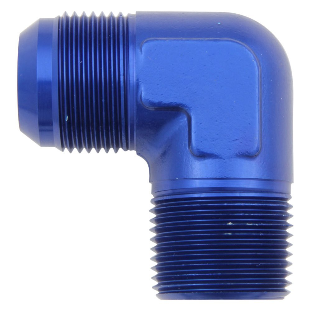 Aeroquip fbm blue anodized aluminum male an to ntp