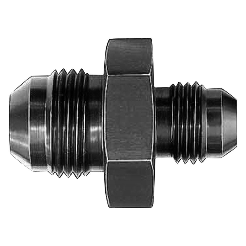 Aeroquip fcm black anodized male an flare to metric