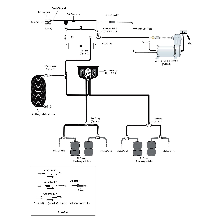 Pneumatic Lift System : Air lift double quickshotair suspension compressor system