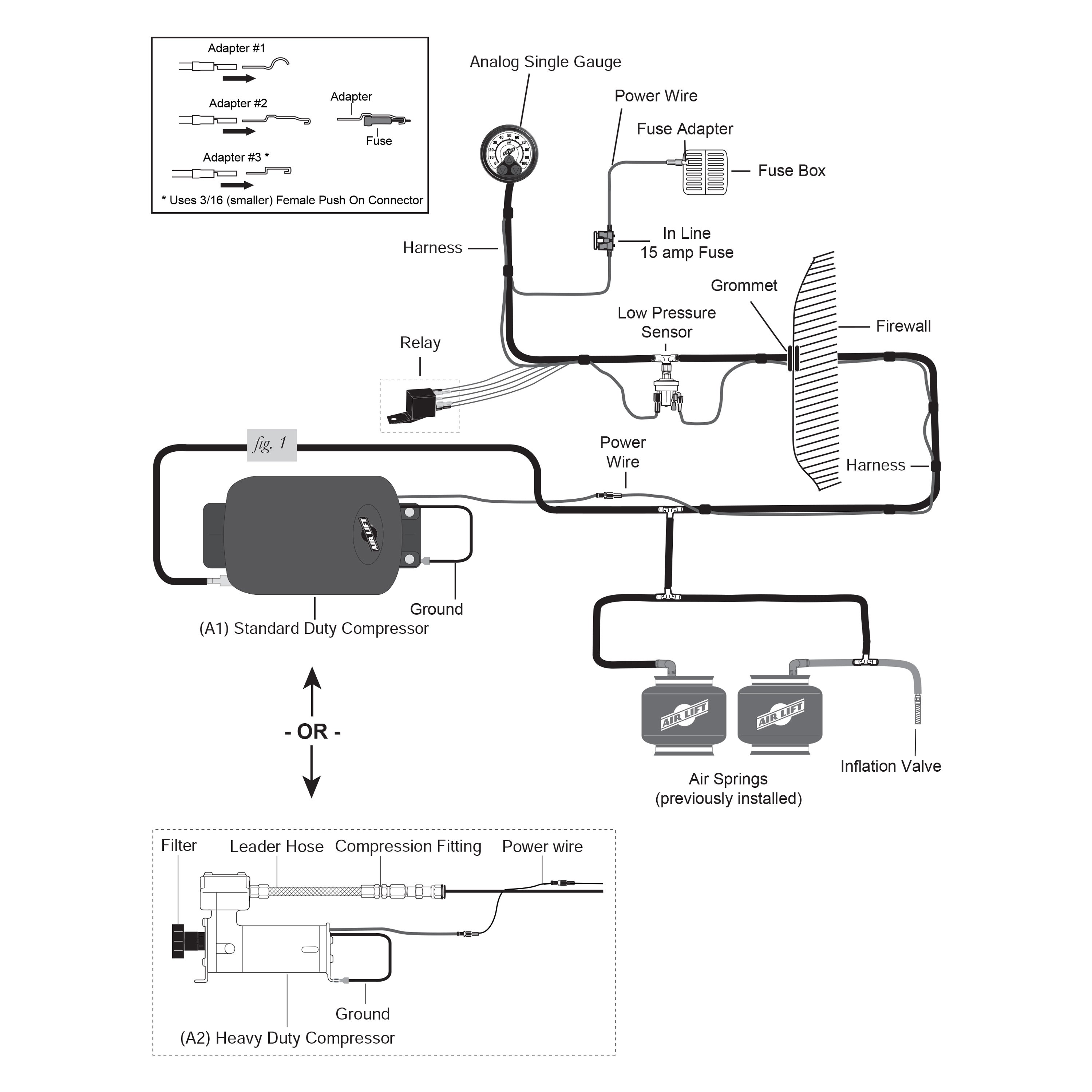 air lift® 25854 - load controller anthony lift gate wiring diagram air lift controller wiring diagram